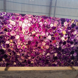 Purple Agate backlit semi precious gemstone agate stone slabs