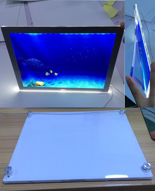 H ngen led licht tasche acryl a3 a4 fenster led anzeige - Fenster abdichten acryl ...