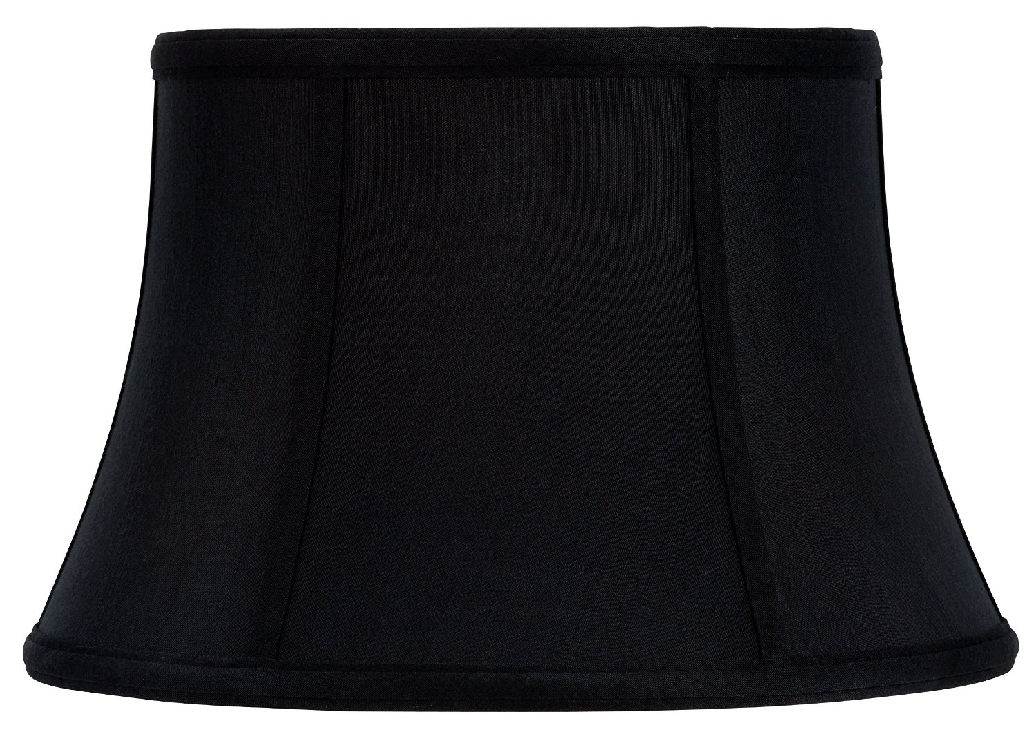 Upgradelights® 12 Inch Modified Bell Shaped Black Uno Silk Lamp Shades with Gold Lining