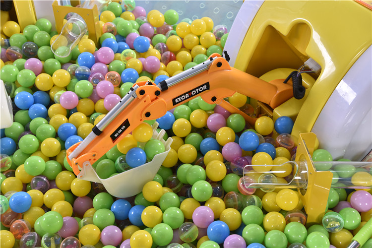 Funny Construction Theme Park Amusement Excavator Game Machine For Sale