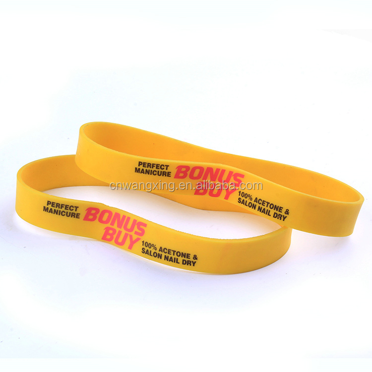 Factory directly selling rubber band/ Custom printing rubber band/Wide rubber band
