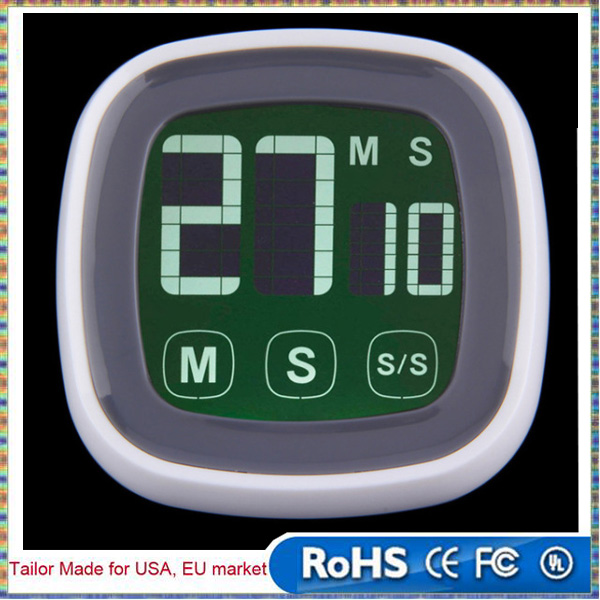 Newest TS-BN54 Digital Touch Screen LCD Kitchen Timer Counts Up Down Backlit Magnet