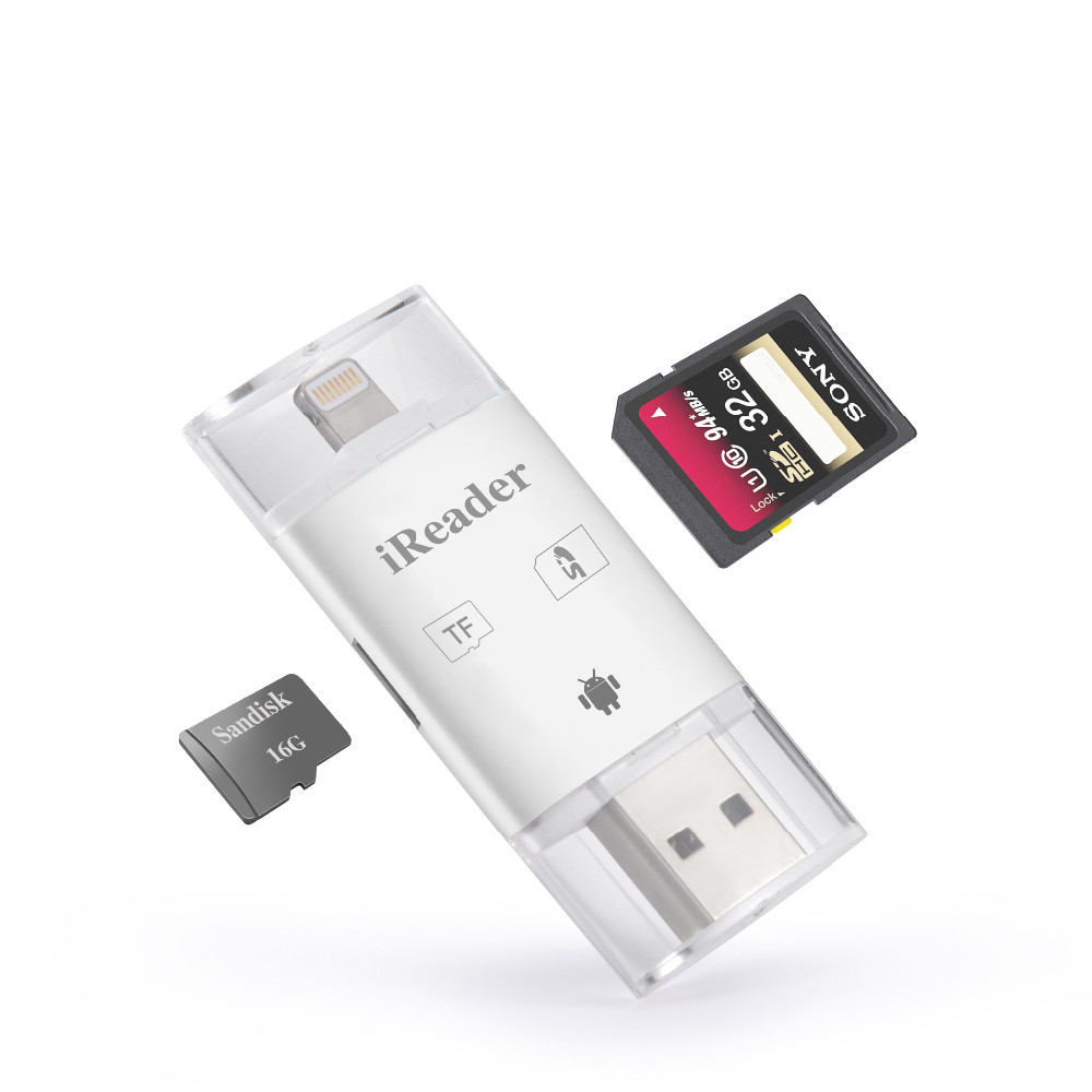 mini sd tf usb card idrive ireader sd memory card reader for iphone 6 buy mini card reader. Black Bedroom Furniture Sets. Home Design Ideas