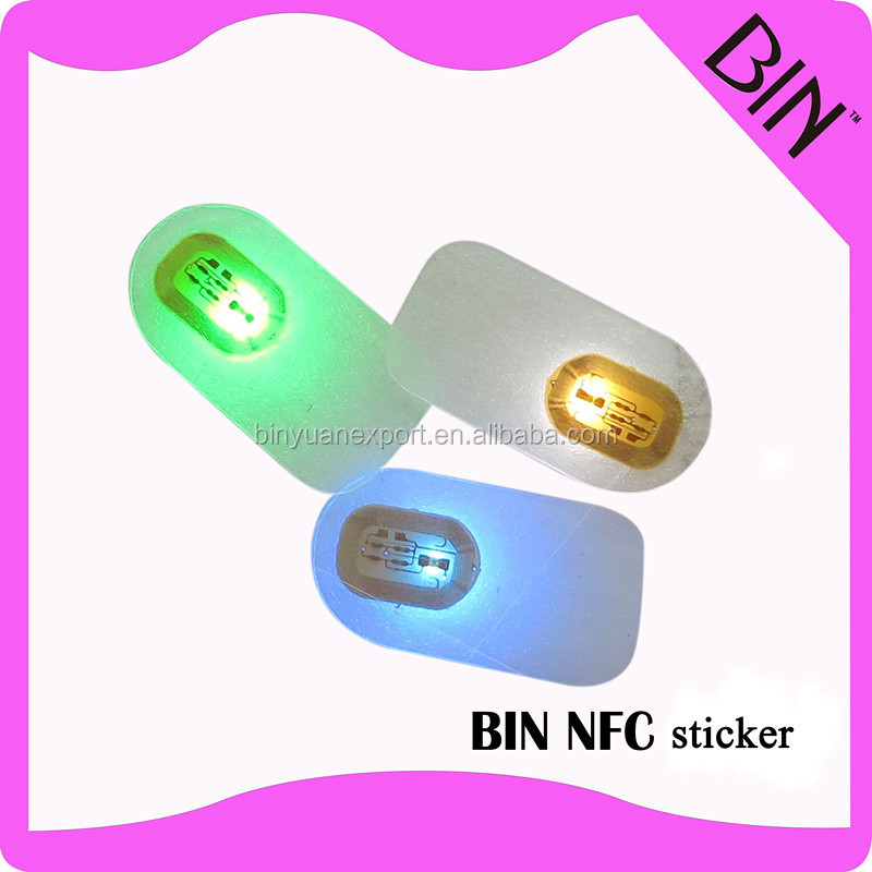 2019 BIN new fashion flash led NFC nail sticker