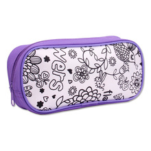 INTERWELL SY001 Diy Color Your Own 600D Personalized Kids Pencil Case
