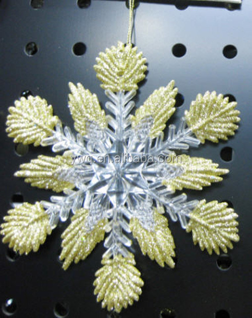 clear acrylic hanging stars for decoration, christmas tree ornament