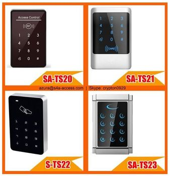 Anti-vandal touch screen door controller with keypad