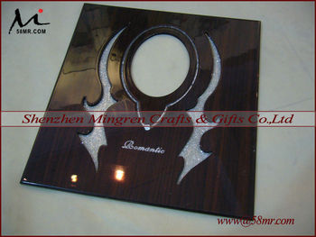 Digital Hollow Out Wedding Wood Photo Album CoverWooden Book Cover