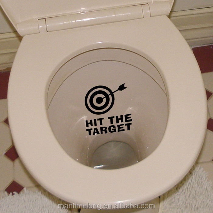 Strange Hit The Target Waterproof Funny Toilet Sticker Bathroom Personality Toilet Seat Sign Reminder Quote Boys Potty Training Buy Toilet Sticker Toilet Bralicious Painted Fabric Chair Ideas Braliciousco