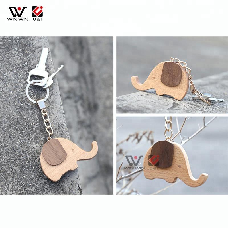 Custom Pattern Plain Key Ring Holder Keyring Carving Engraved Blank Wood Keychain