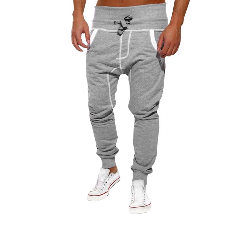 e96fdf26310d13 Get Quotations · Men Sweatpants,Haoricu Clearance Men's Jogger Sweatpants  Elastic Waist Running Pants Sports Trousers Slim Fit