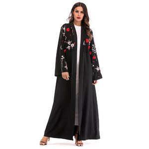 Abaya Dubai Kaftan Arab Islam Women Long Floral Muslim Kimono Cardigan Dress Turkish Elbise Mubarak Islamic Clothing Y10372