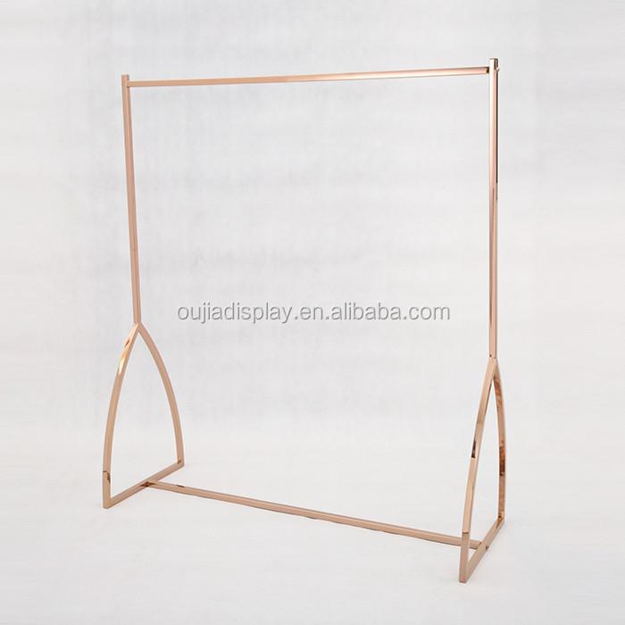 Brand-new Rose Gold Garment Rack For Women Clothes Shop Design - Buy Rose  ZT45
