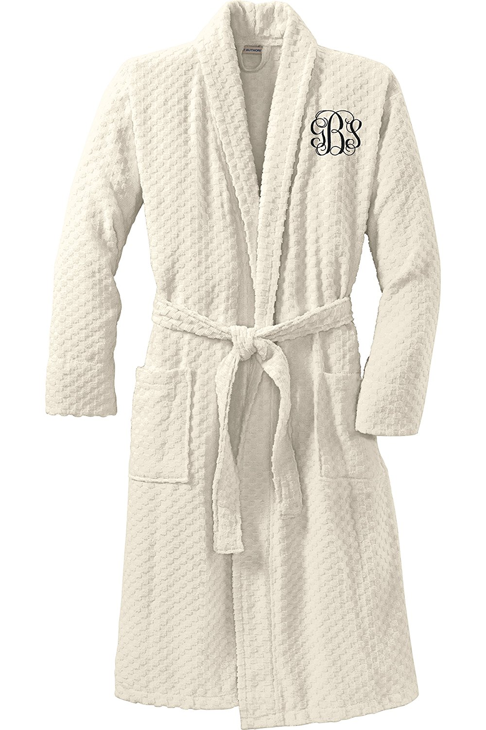 Get Quotations · Personalized Checkered Terry Robe with Embroidered Name 264df8e43