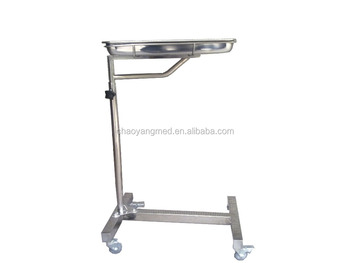 Cy D152 Stainless Steel Medical Mayo Table Used Tray For