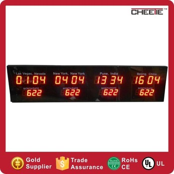 Led digital world time wall clock local time display led world clock led digital world time wall clock local time display led world clock gumiabroncs Gallery