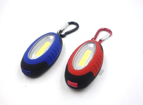 COB LED Keychain Light Compact LED Flashlight With Keychain With Magnet