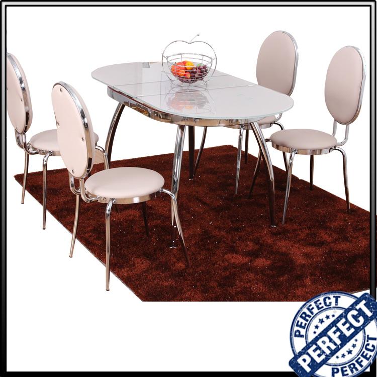 Luxury design moderno top ovale rosa allungabile tavolo da pranzo in ...