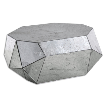Top Quality Unique Gl Triangle Coffee Tables Acrylic Faux Stone Table