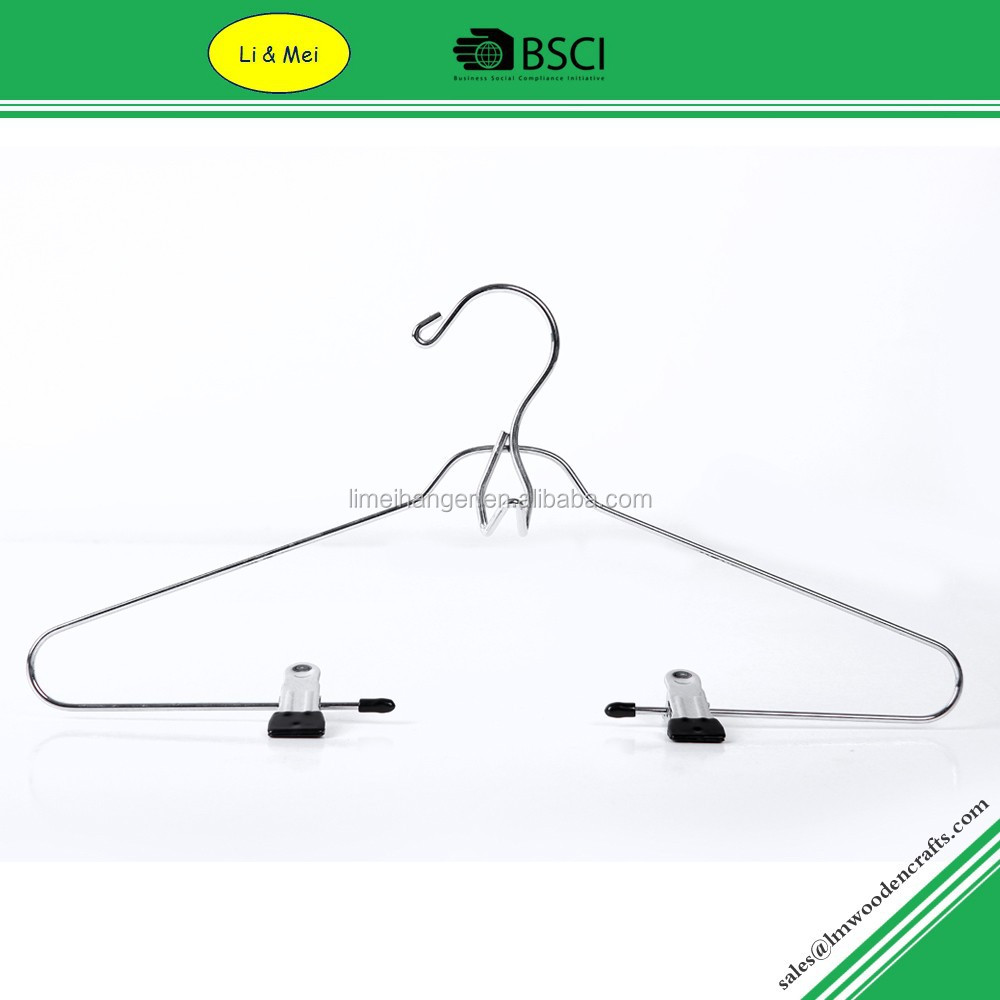 LM1016 Cheap Chrome Bulk Wire Hangers With Clips