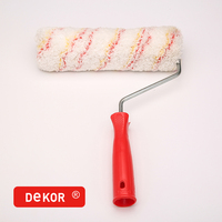 "10"" High Quality Big Handle Double Red Strip Paint And Dye Roller Brush"