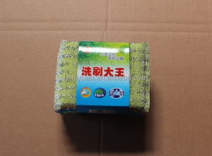high quality cleaning products paper card mesh scourer/plastic scourer/stainless steel scourer