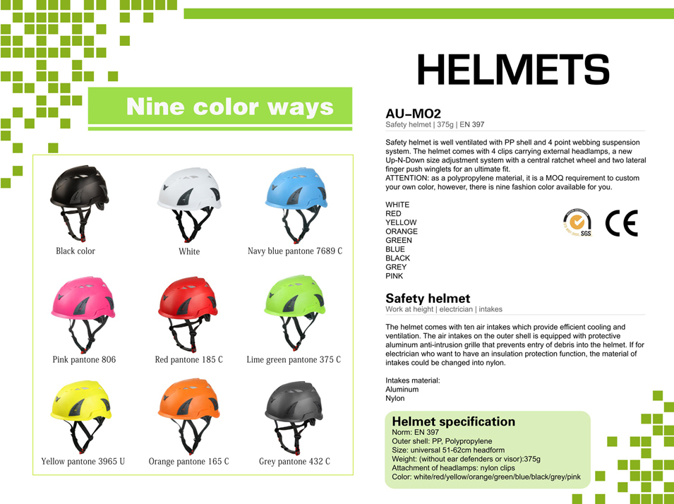helmet for construction workers AU-M02 Details 7