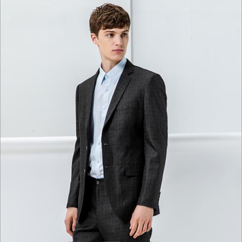 new design pockets fashion factory latest design pant100% Wool men suit black and white formal blazer