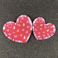 Beautiful heart shaped melamine dinner plates