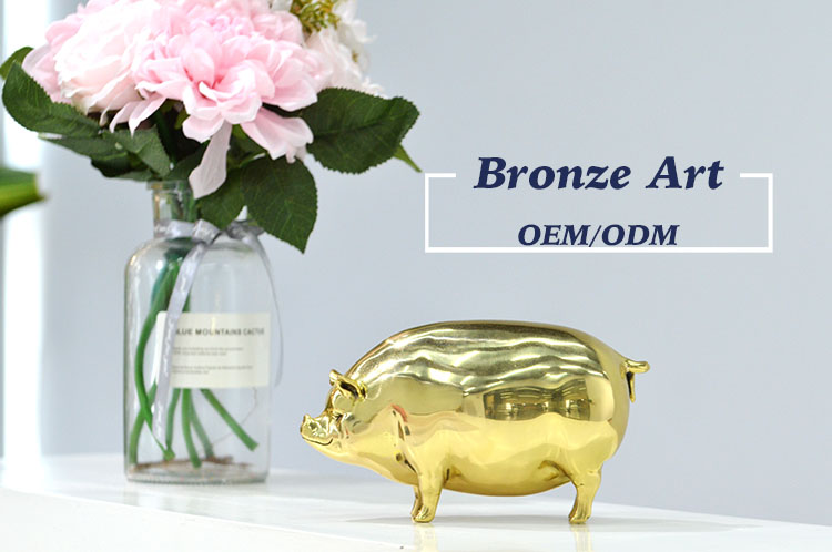 Casting Large Decorative Custom Design 3D Antique Art Modern Metal Home Decor Animal Bronze Sculpture For Sale