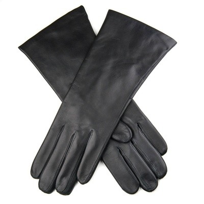 Black hairsheep leather gloves with cahsmere lined