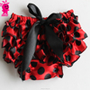 Fashion Newborn Baby Boys Girls Satin Ruffle PP Shorts Pants Baby Kids Leopard Bowknot Skirt Dress Bloomers