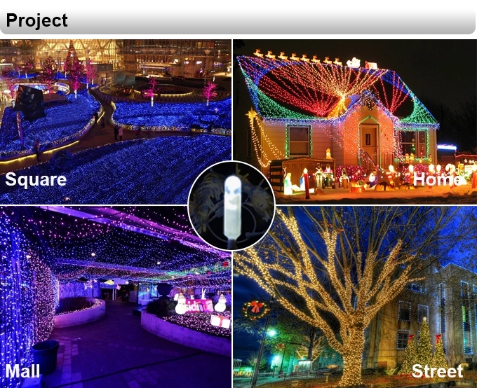 Outdoor holiday light ip 65 waterproof 10m 100 leds warm white christmas fairy lights in holiday lighting