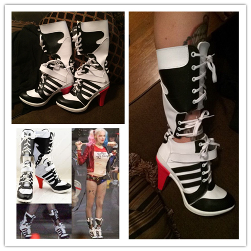 the latest 95d34 53706 Batman-Suicide-Squad-Harley-Quinn-Movie-Halloween-Cosplay-Costumes-Shoes-Boots-High-Quality-Customized.jpg