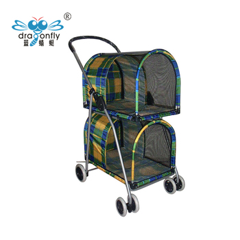 China Supplier Folding Double Dog Trolley Twin Dog Cart For Large Dogs -  Buy Double Dog Stroller,Twin Dog Cart,Folding Product on Alibaba com