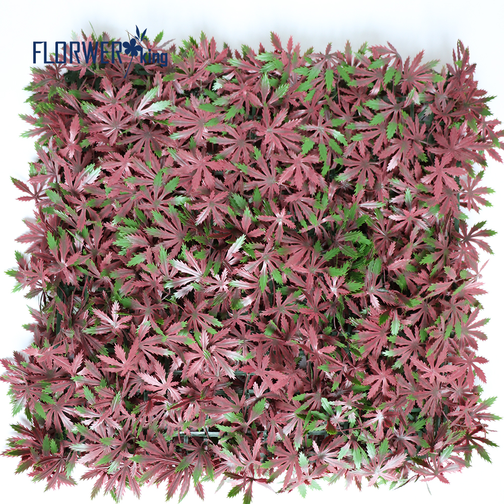 Flowerking brand wholesale factory direct high quality outside Maple leaves artificial boxwood hedge fence