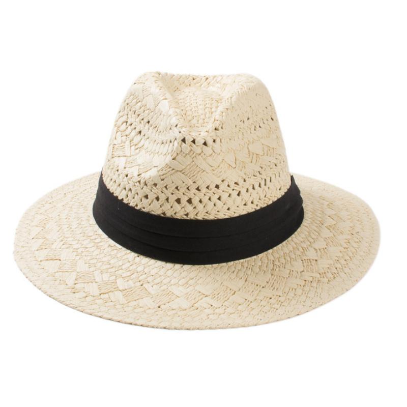 cab214821c99e PS01 China Custom fashion summer women man wide brim paper panama straw  fedora beach floppy foldable sun hat