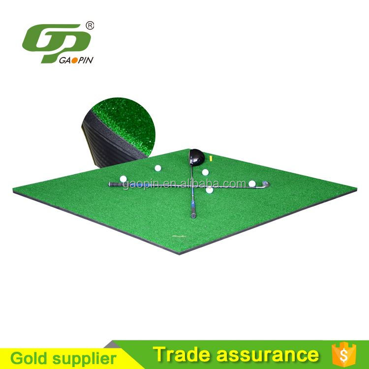Golf Hitting Mat Rubber Tee Holder Driving Practice Aid Turf Grass Trainer Set