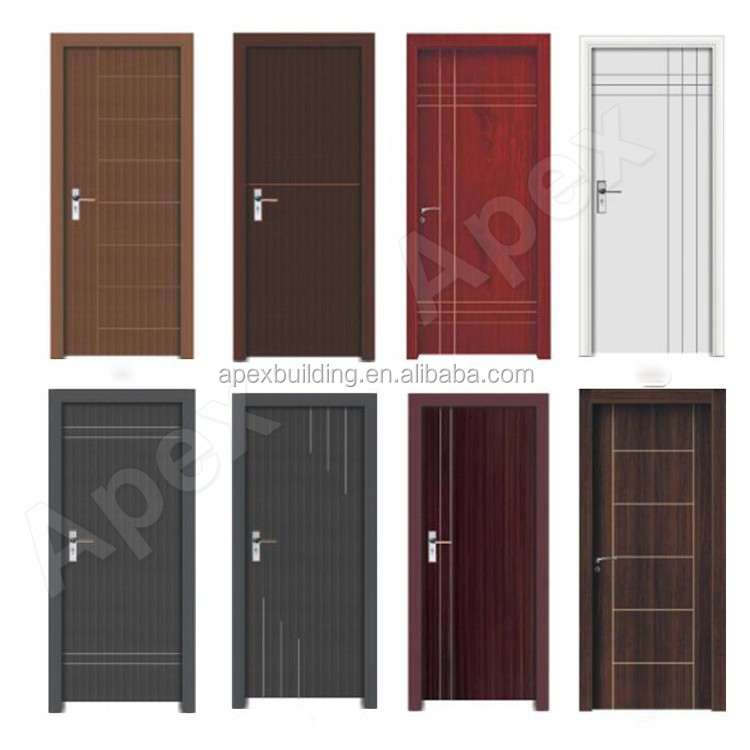 Waterproof Modern Design Plastic Front Door Wpc Door Price