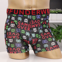 Factory OEM Underwear 5% Spandex + 95% Bamboo Men's Knitted Boxer