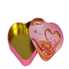 Lovely logo printing heart shape chocolate tin box for wedding gift packaging