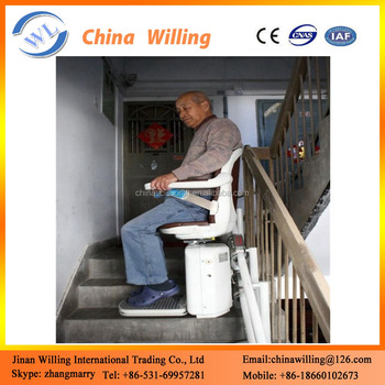 chair lift elderly electric small home straight stair elevator elderly transfer chair lift