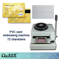 72-Character manual embossing machine PVC Credit VIP Business Card