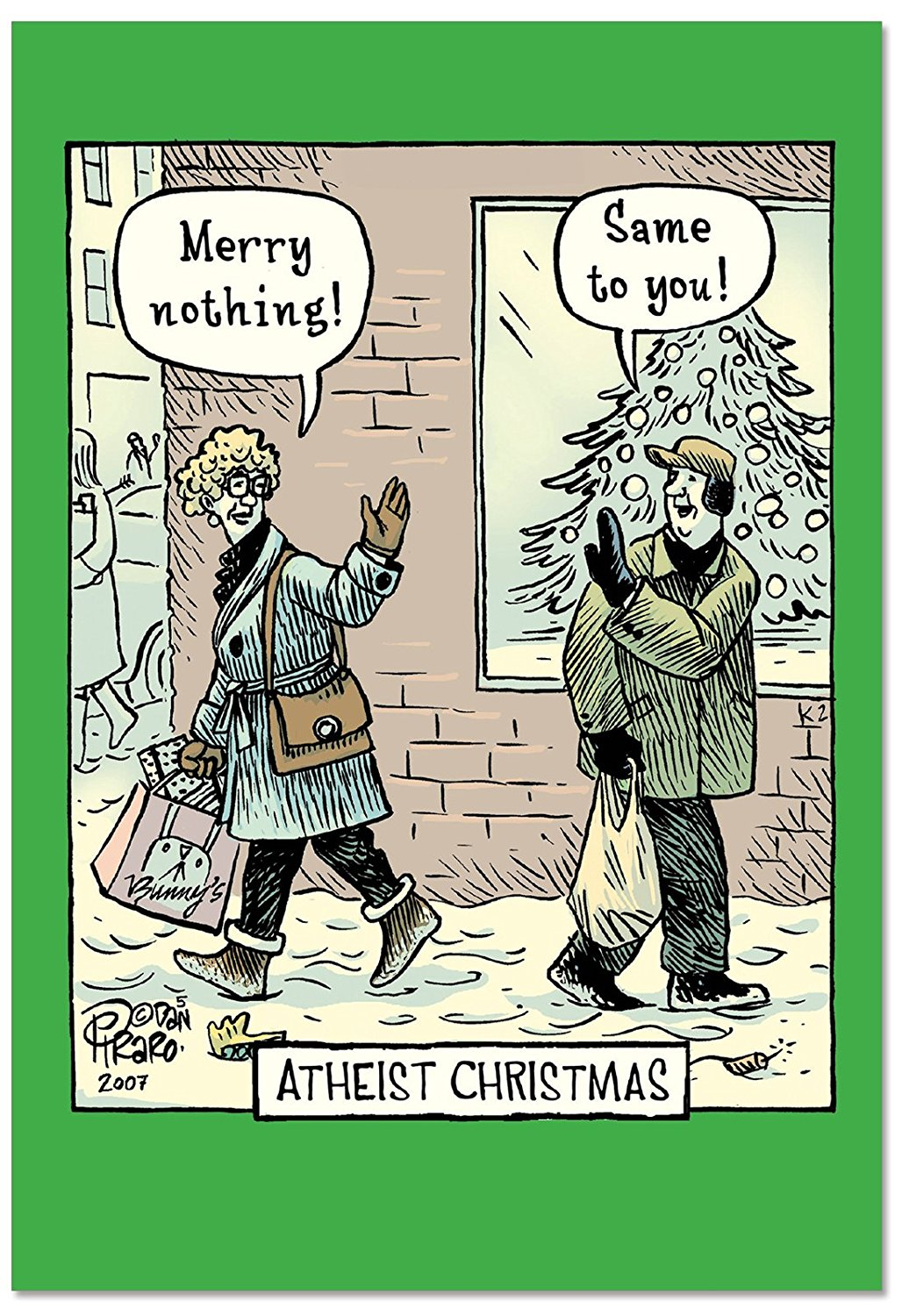 Cheap humor christmas find humor christmas deals on line at get quotations b2513xsg box set of 12 atheist christmas humor christmas greeting cards with envelopes kristyandbryce Gallery