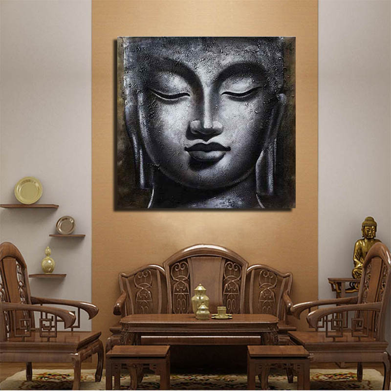 2018 NEW Handpaint Buddha Oil Painting Canvas Wholesale Art India