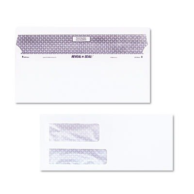 (3 Pack Value Bundle) QUA67529 Reveal-N-Seal Double Window Invoice Envelope, Self-Adhesive, White, 500/Box