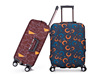 Grey circle style luggage covers, hgih elasticity spandex trolley box covers