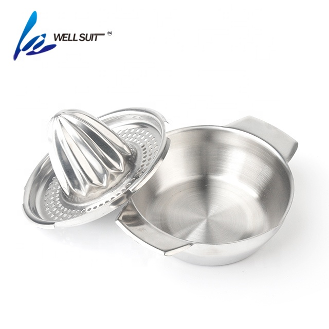 Stainless steel manual fruit vegetable tools citrus press lemon squeezer