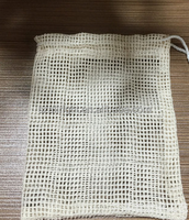 Promotional cotton cloth mesh soap saver bag pouch wholesale drawstring bag