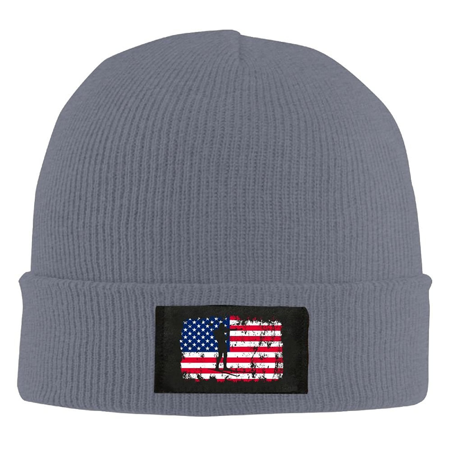 1462abd06acc2c Get Quotations · Gaet Caps Two items In Winter American Flag Men Unisex  Winter Warm Beanie Hat Cold Thick